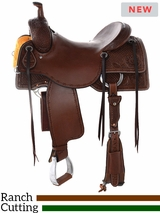 "15"" to 17"" Reinsman Ranch Cutting Saddle 4826 w/Free Pad"
