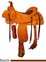 "** SALE ** 15"" to 17"" Reinsman Ranch Roper Saddle 4607"