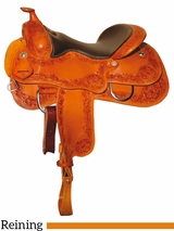 "** SALE ** 15"" to 17"" Reinsman Reining Saddle 4762"