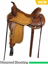 "15"" to 17"" South Bend Saddle Co Baddog III Mounted Shooting Saddle 3214BADDOG3"