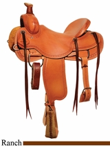 "** SALE ** 15"" to 18"" Circle Y Big Sandy Ranch Saddle 1129 w/Free Pad"