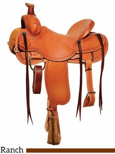 "15"" to 18"" Circle Y Big Sandy Ranch Saddle 1129 w/Free Pad"