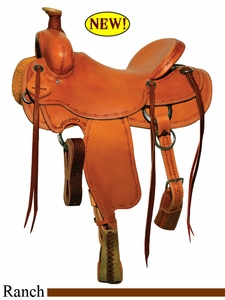 "DISCONTINUED 15"" to 18"" Circle Y Chalk Creek Ranch Saddle 2123"