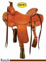 "** SALE **15"" to 18"" Circle Y Chalk Creek Ranch Saddle 2123 *free gift*"