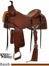 "15"" to 18"" Circle Y XP Brenham Ranch Saddle 2544 w/Free Pad"