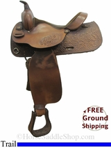 "PRICE REDUCED! 15"" Used Big Horn Trail Saddle usbh3063 *Free Shipping*"