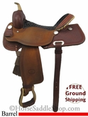 "15"" Used Billy Cook Barrel Racing Saddle usbi2733 *Free Shipping*"