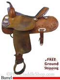 "15"" Used Billy Cook Barrel Racing Saddle usbi2746 *Free Shipping*"