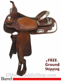 "15"" Used Billy Cook Barrel Racing Saddle usbi2763 *Free Shipping*"