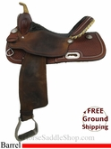 "SOLD 2014/06/24 $1095 15"" Used Billy Cook Barrel Racing Saddle, Wide Tree usbi2794 *Free Shipping*"