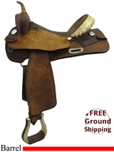 """SOLD 2015/09/21 15"""" Used Billy Cook Barrel Racing Saddle, Wide Tree usbi3257 *Free Shipping*"""