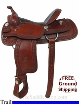 "15"" Used Billy Cook Trail Saddle, Wide Tree usbi2931 *Free Shipping*"