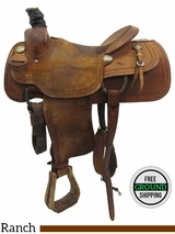 "SOLD 2016/05/26 15"" Used Billy Cook Wide Ranch Saddle usbi3391 *Free Shipping*"