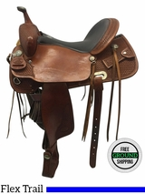 """15"""" Used Billy Cook Wide Trail Saddle 1536 usbi3619 *Free Shipping*"""