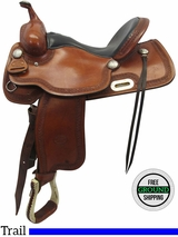 "15"" Used Billy Cook Wide Trail Saddle 1785 usbi3511 *Free Shipping*"