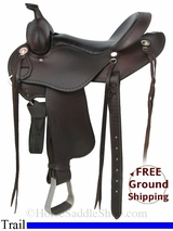"SOLD 2014/12/11 $1250 15"" Used Cashel Trail Saddle usch2875 *Free Shipping*"