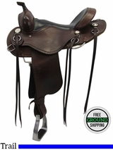 "SOLD 2016/06/23  15"" Used Cashel Wide Trail Saddle chCT usch3477 *Free Shipping*"