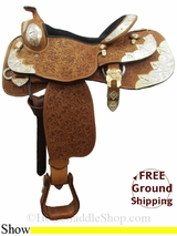 "15"" Used Circle G Show Saddle, Wide Tree uscg3091 *Free Shipping*"