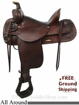 "PRICE REDUCED! 15"" Used Circle Y All Around Saddle uscy2820 *Free Shipping*"