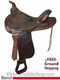 "15"" Used Circle Y Barrel Racing Saddle uscy2538 *Free Shipping*"