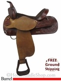 "PRICE REDUCED! 15"" Used Circle Y Barrel Racing Saddle uscy2745 *Free Shipping*"