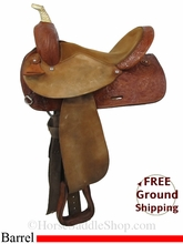 "15"" Used Circle Y Barrel Racing Saddle uscy2828 *Free Shipping*"