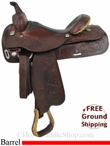 "PRICE REDUCED! 15"" Used Circle Y Barrel Racing Saddle uscy2901 *Free Shipping*"