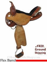 "SOLD 2014/02/03 15"" Circle Y Kenny Harlow Complete Competitor 5625 Flex2 Barrel Racing Saddle, Wide Tree, Floor Model uscy2970 *Free Shipping*"
