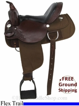 """SOLD 2014/11/18 $695 15"""" Used High Horse by Circle Y Flex Trail Saddle, Wide Tree uscy2891 *Free Shipping*"""