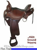 "SOLD 11/26/13 $1250 15"" Used Circle Y Flex2 Trail Saddle, Wide Tree uscy2656 *Free Shipping*"