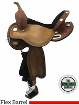 "15"" Used Circle Y Kelly Kaminski Blaze Wide Barrel Saddle 1528 uscy3584 *Free Shipping*"