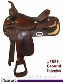 "SOLD 12/2/13 $759.25 PRICE REDUCED! 15"" Used Circle Y Pleasure Saddle uscy2651 *Free Shipping*"