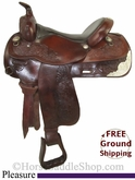 "PRICE REDUCED! 15"" Used Circle Y Pleasure Saddle uscy2762 *Free Shipping*"