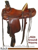 "SOLD 12/5/13 $925 15"" Used Circle Y Ranch Saddle uscy2732 *Free Shipping*"