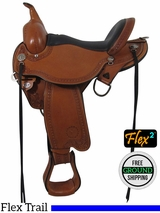 "SOLD 2016/06/22  15"" Used Circle Y Sheridan Wide Flex2 Trail Saddle 1572 uscy3474 *Free Shipping*"