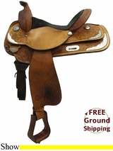 "PRICE REDUCED! 15"" Used Circle Y Show Saddle uscy3176 *Free Shipping*"