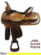 "15"" Used Circle Y Show Saddle uscy3255 *Free Shipping*"