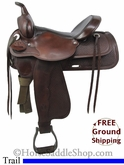 "SOLD 11/25/13 $799 15"" Used Circle Y Trail Saddle uscy2717 *Free Shipping*"