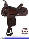 "15"" Used Circle Y Trail Saddle uscy2829 *Free Shipping*"