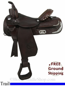 "PRICE REDUCED! 15"" Used Circle Y Trail Saddle uscy2855 *Free Shipping*"