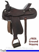 "SOLD 2014/12/01 $675 15"" Used Circle Y Trail Saddle uscy2889 *Free Shipping*"