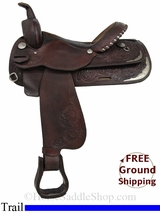 "PRICE REDUCED! 15"" Used Circle Y Trail Saddle uscy2893 *Free Shipping"""