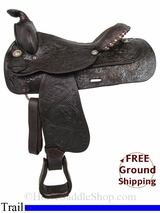 "PRICE REDUCED! 15"" Used Circle Y Trail Saddle uscy2928 *Free Shipping*"