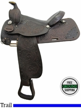 """SOLD 2016/07/11 PRICE REDUCED! 15"""" Used Circle Y Trail Saddle uscy3127 *Free Shipping*"""