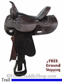 "SOLD 12/5/13 $910 15"" Used Circle Y Trail Saddle, Wide Tree uscy2730 *Free Shipping*"