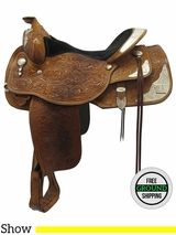 "SOLD 2016/12/13  15"" Used Circle Y Wide Show Saddle 2913 uscy3559 *Free Shipping*"
