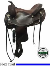 """15.5"""" Used Crates Wide Trail Saddle 2171-3W uscr3618 *Free Shipping*"""