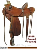 "15"" Used D. Hulbert Saddles Ranch Saddle uscu2830 *Free Shipping*"