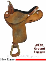 "PRICE REDUCED! 15"" Used Dakota Flex Barrel Racing Saddle usdk2965 *Free Shipping*"