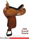 "15"" Used Dakota Flex Barrel Racing Saddle, Wide Tree usdk2796 *Free Shipping*"